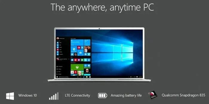 Microsoft, Windows 10, Snapdragon 835, ARM