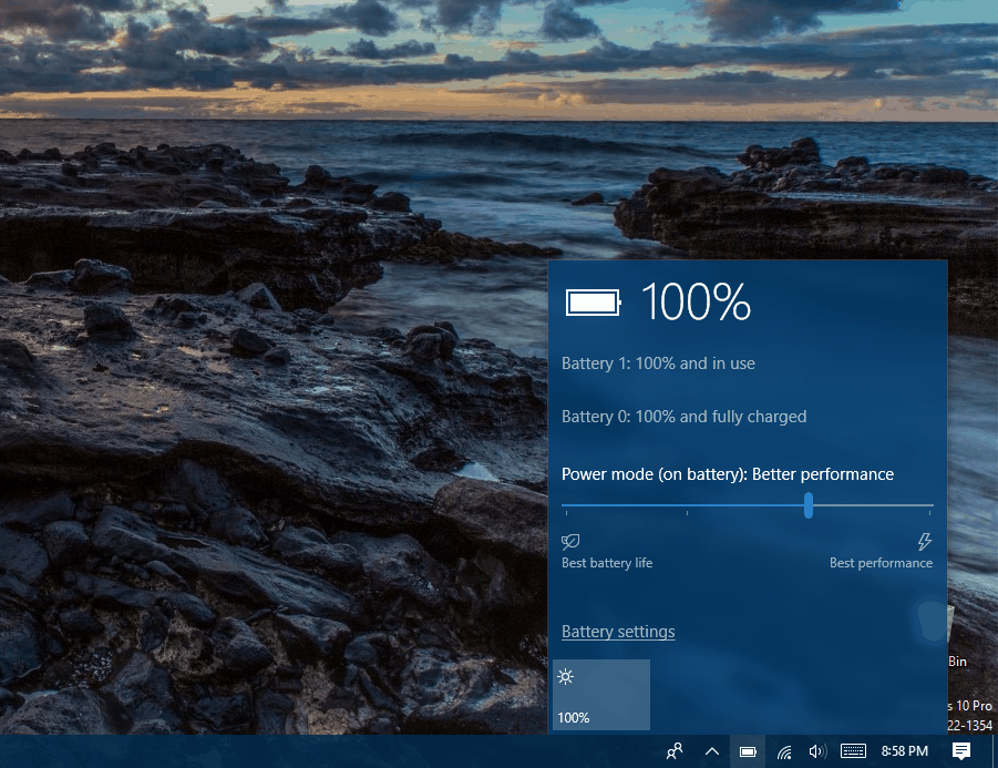 How to Enable Remaining Time Battery Life indicator in Windows 10
