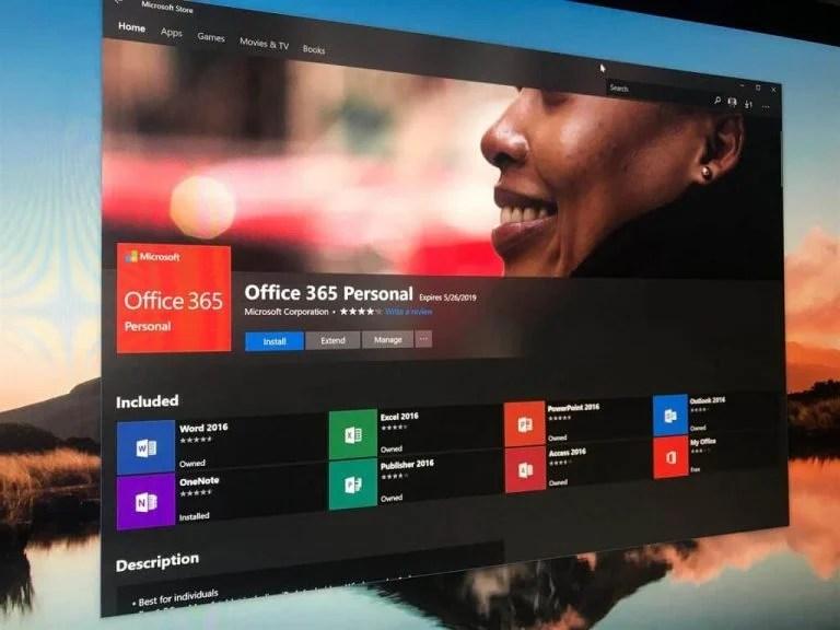 Office 365 Windows Microsoft Store