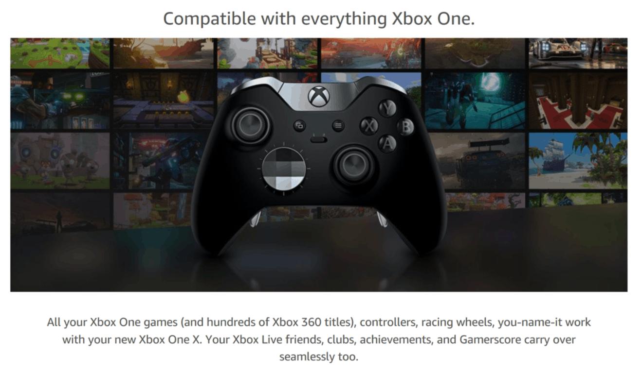 Xbox One X on Amazon