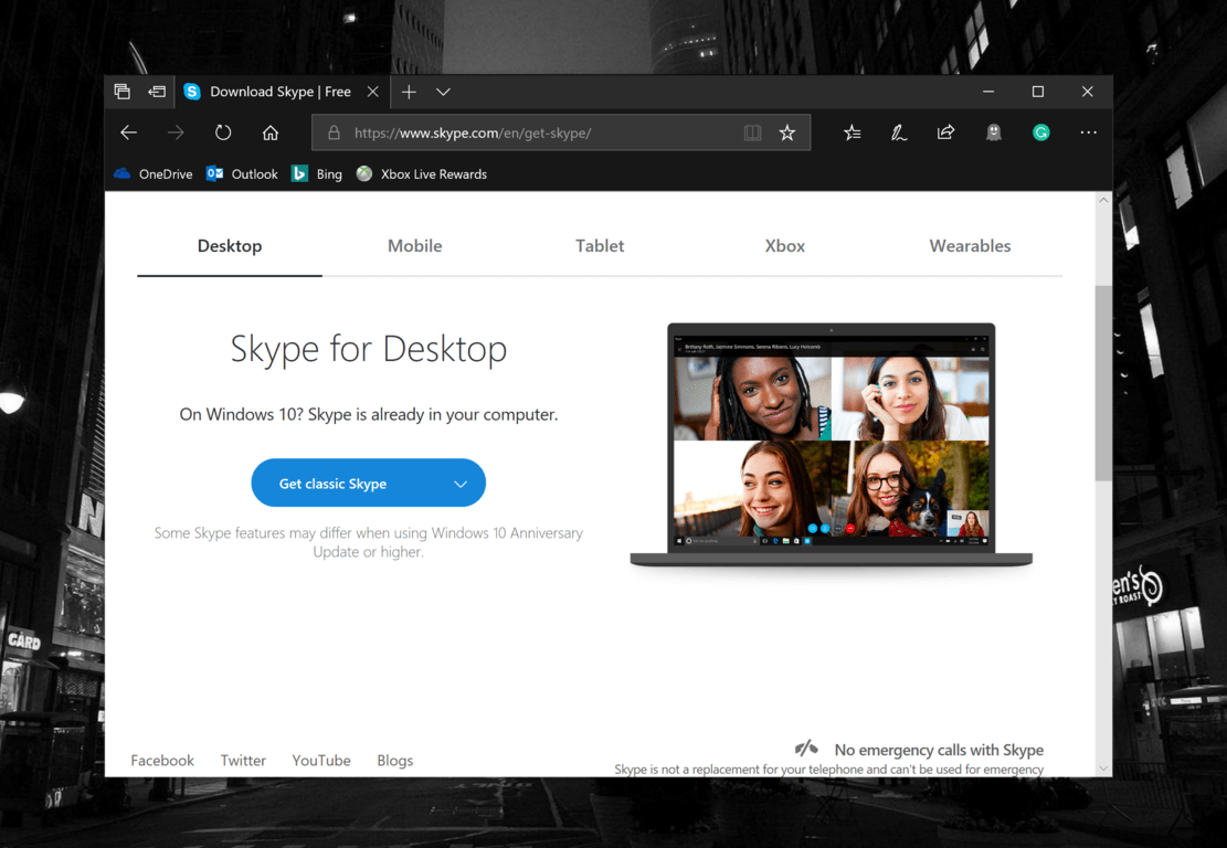 "Skype ""classic"" for Windows desktop is once again available"