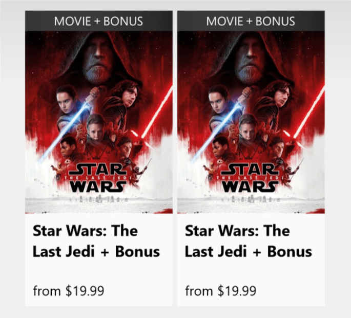 The Last Jedi duplicate listings