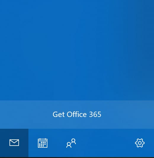 Windows 10 Mail app Office 365 ad