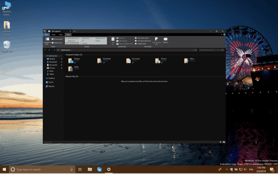 On Day Windows 7 Launched I Installed >> New In Windows 10 Build 17666 A New Clipboard Experience Dark Mode