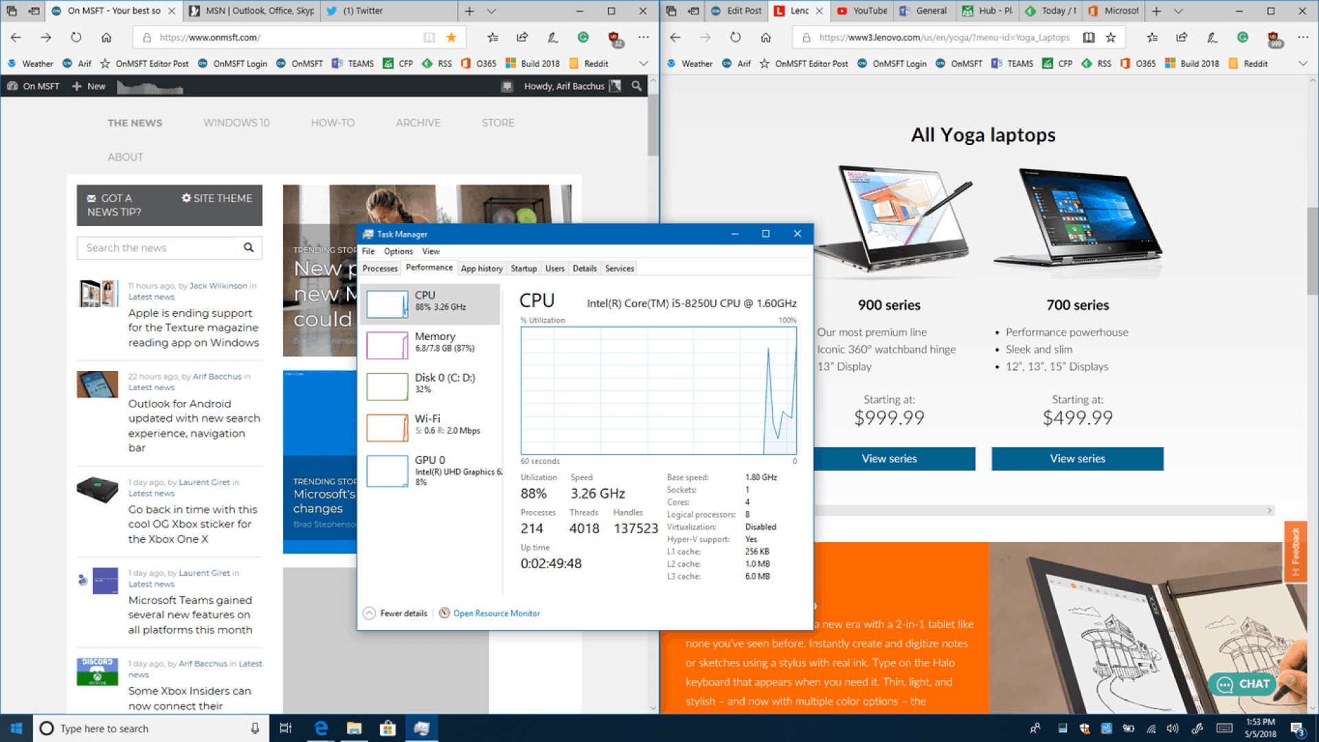 Lenovo Yoga 730 (13-inch:) Big power in a small but premium package