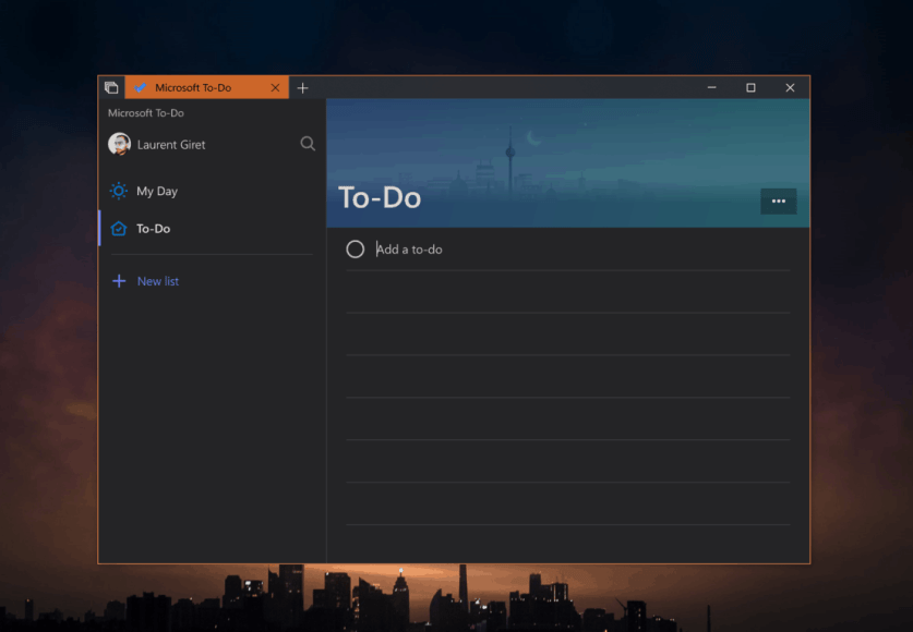 dark theme for microsoft to do now generally available on windows 10 and windows 10 mobile