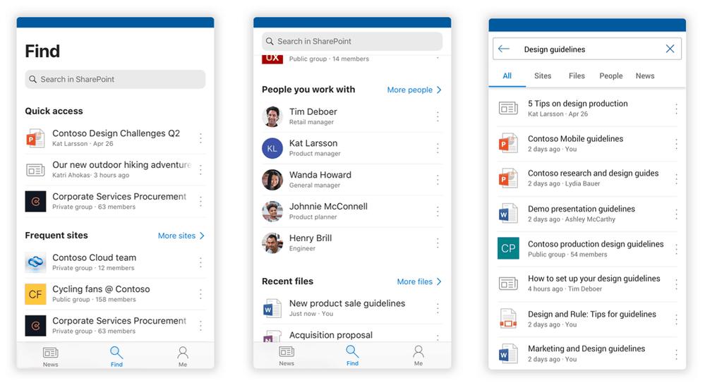 Microsoft SharePoint redesign