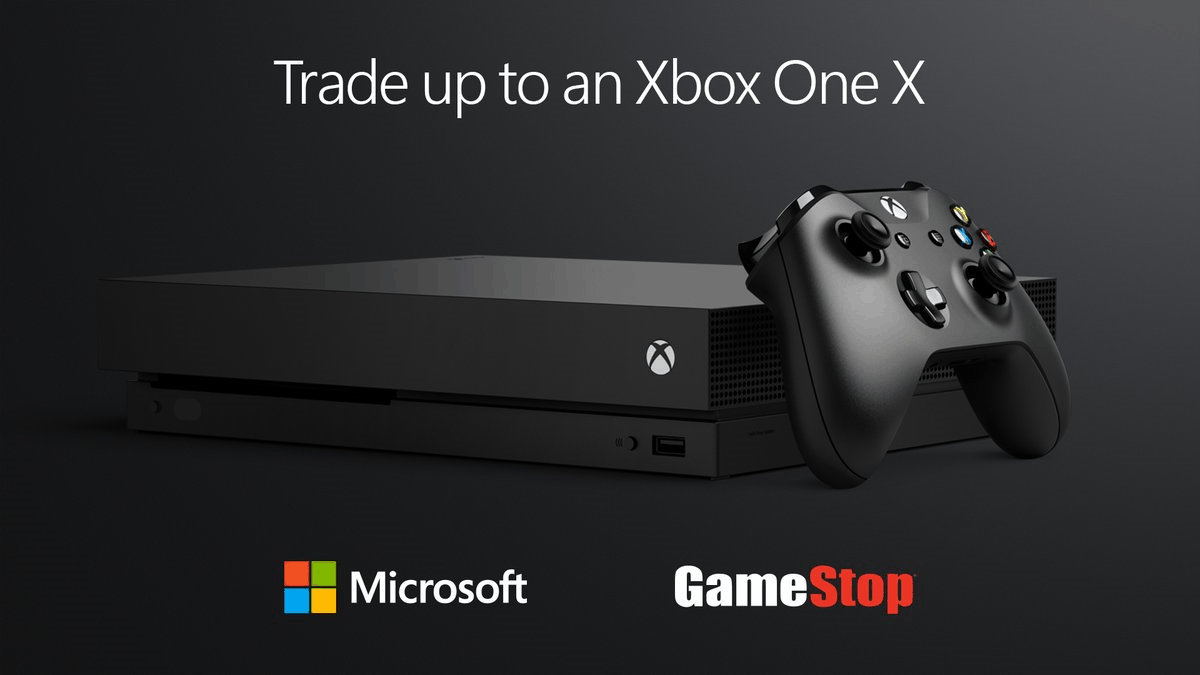 Get up to $300 towards an Xbox One X with a qualifying trade-in at