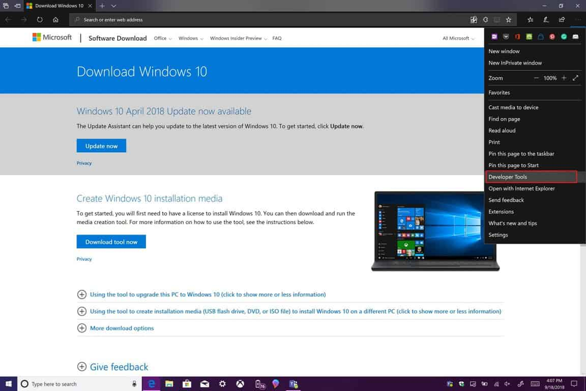 How to download Windows 10 ISOs without the Media Creation Tool