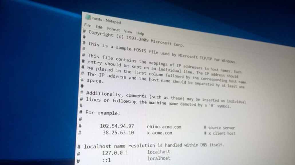 how to block websites using notepad in windows 10