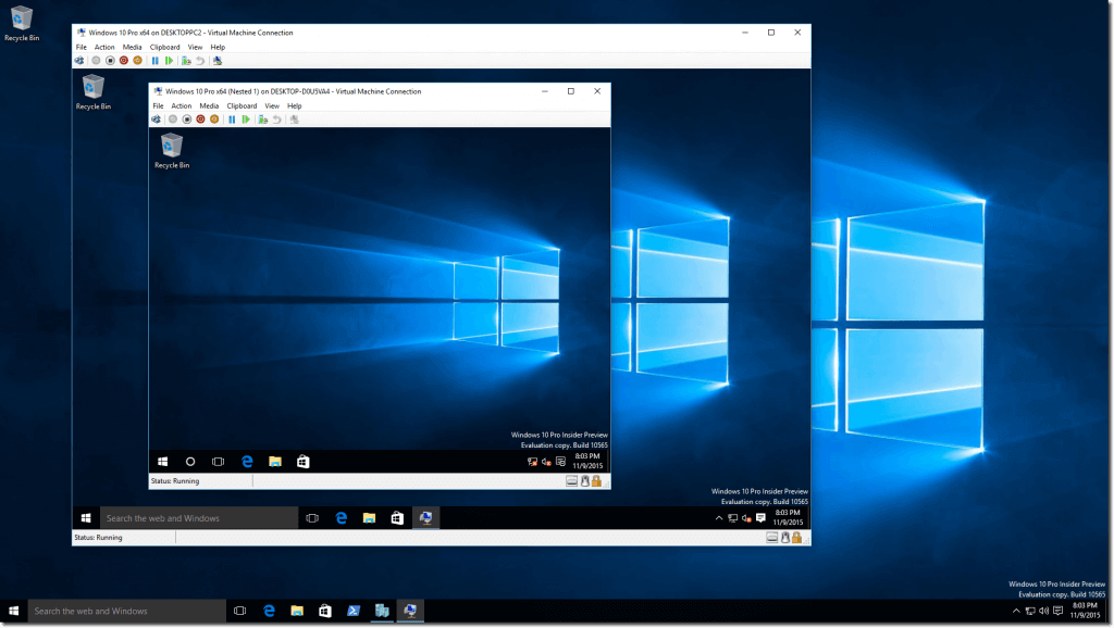 Microsoft, Windows 10, VM