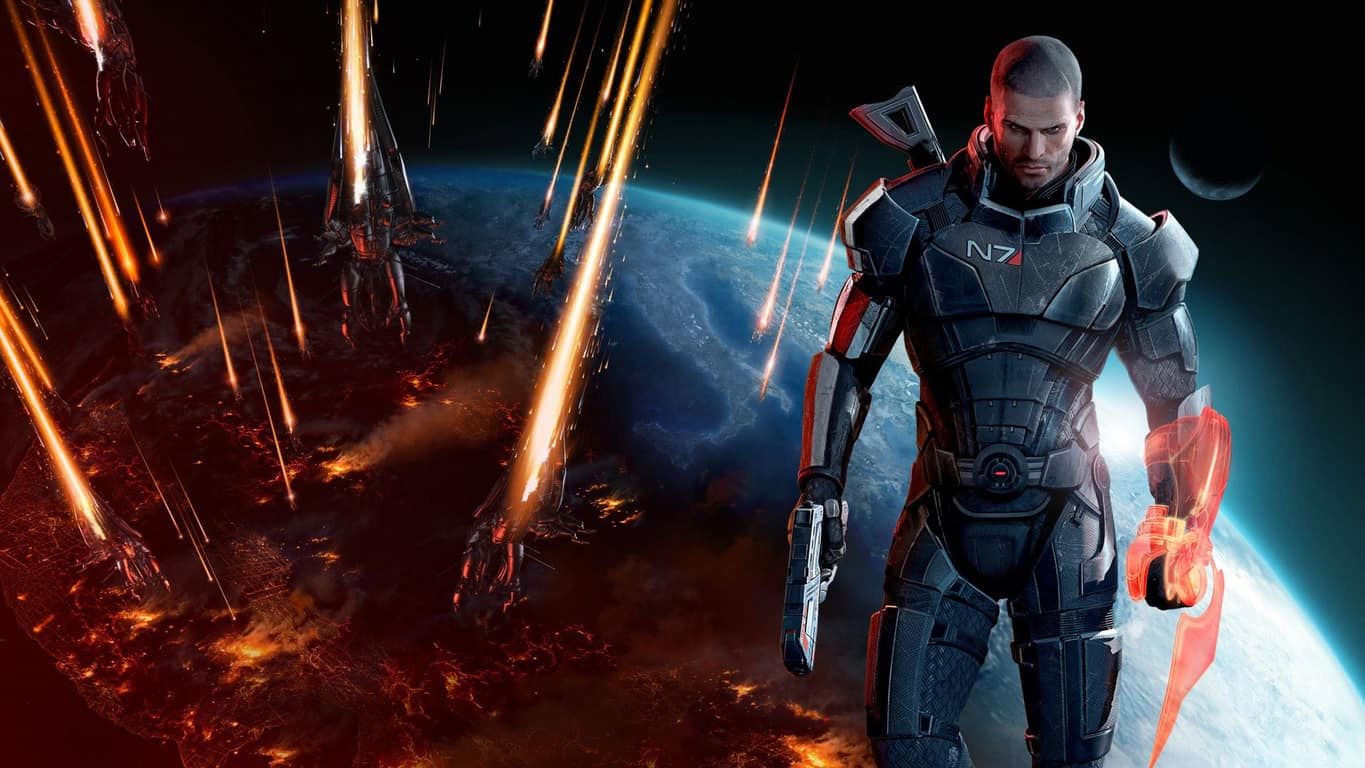 Mass Effect 3 vidoe game on Xbox 360 and Xbox One