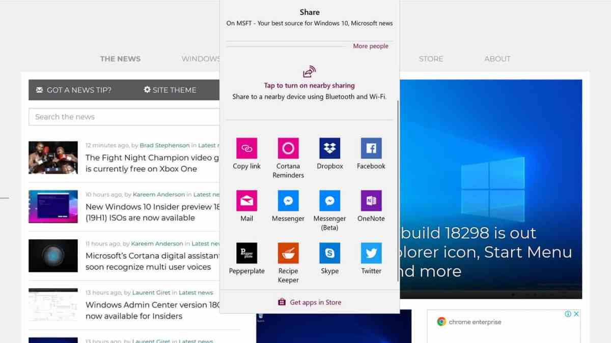 Mozilla Firefox gains native Windows 10 sharing in latest update