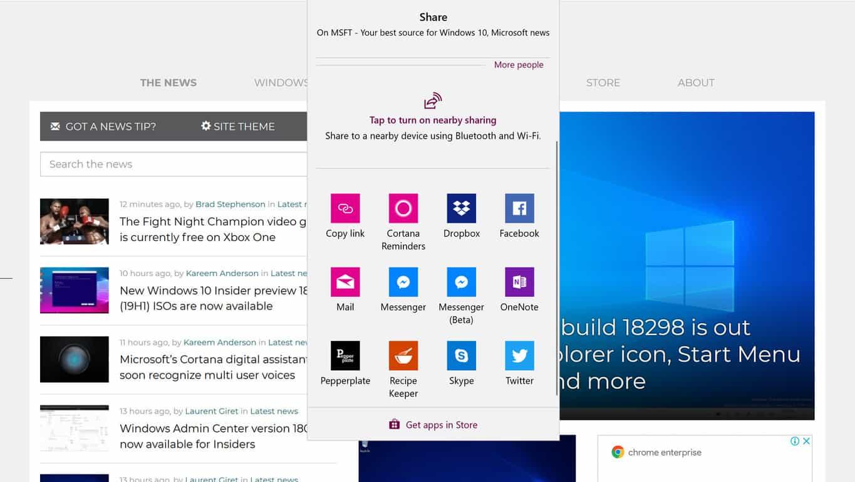 Mozilla Firefox gains native Windows 10 sharing in latest