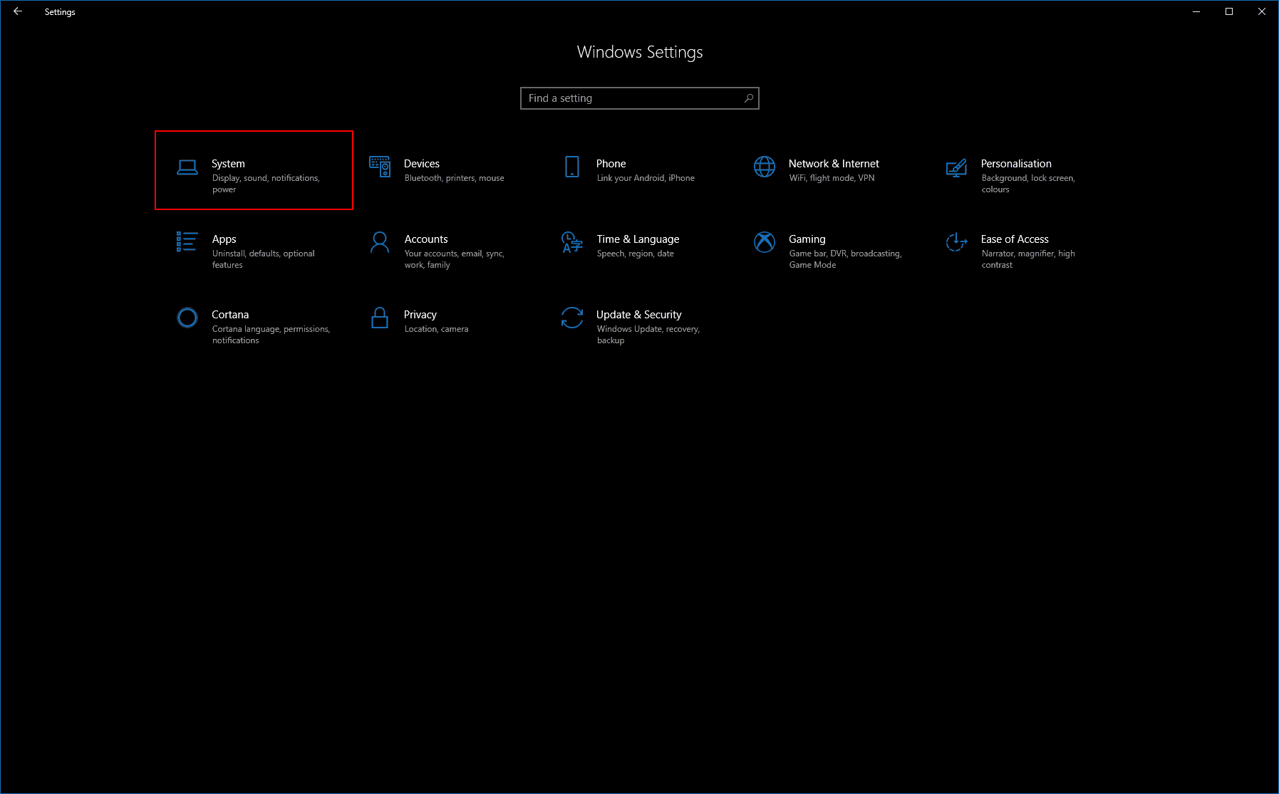 Windows 10 Settings About screenshot