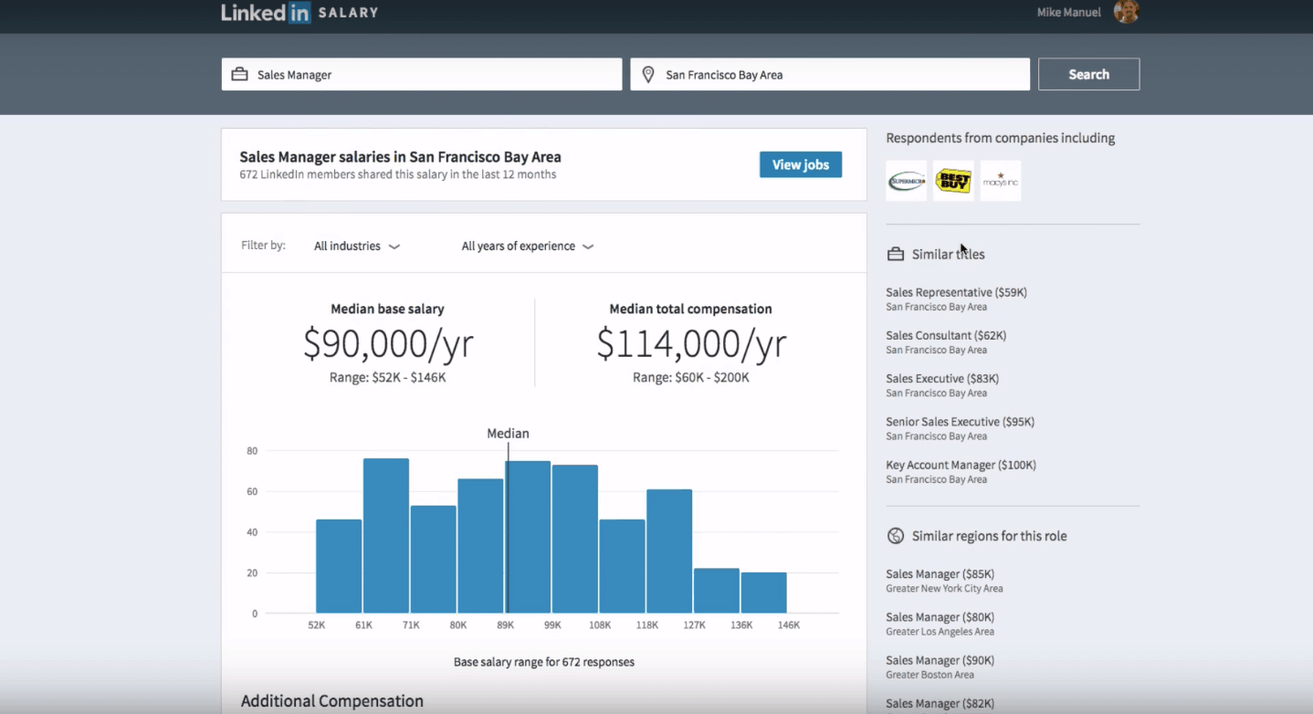 LinkedIn Salary Insights now showing top paying jobs in US