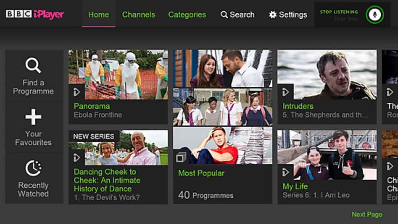 BBC iPlayer app on Xbox 360