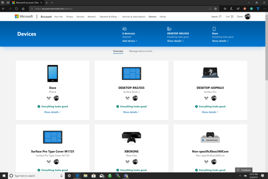 Microsoft, Windows 10, Devices