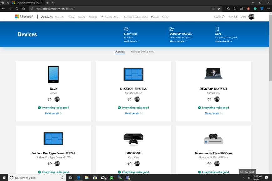 Microsoft, Windows 10, Devices