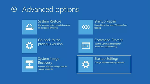 Microsoft Windows 10, Settings, Windows, Startup