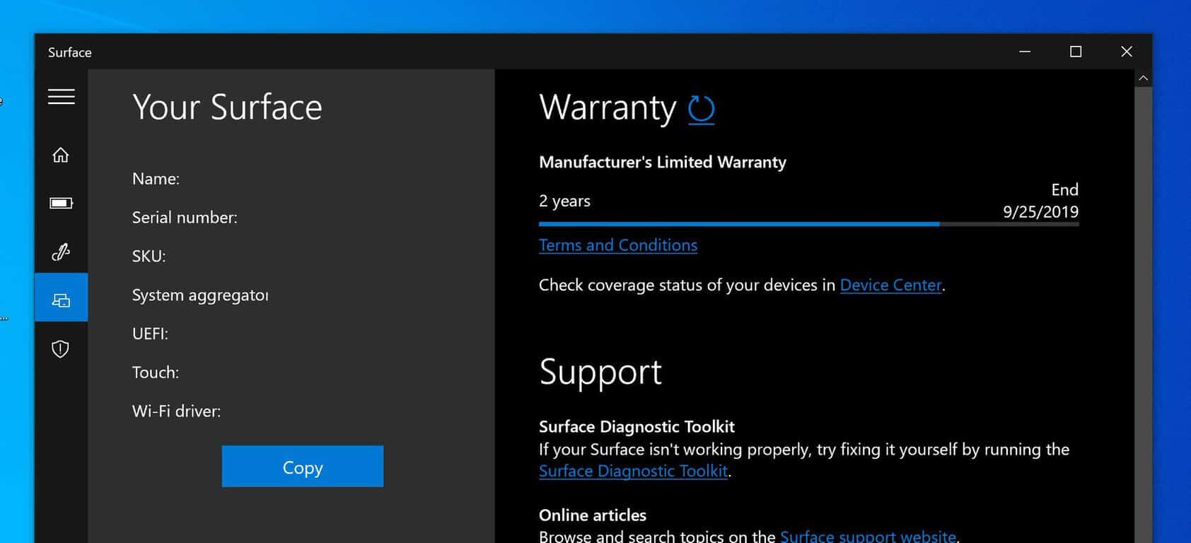 Windows 10 Surface App Now Tells Users When Their Warranty Ends