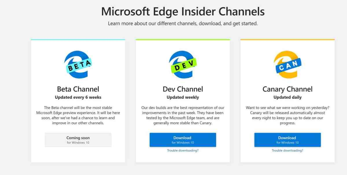 Microsoft makes Edge Chromium Insider preview available for download