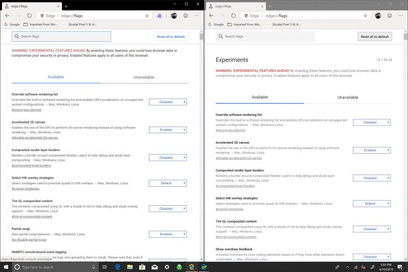 Microsoft, Edge Insider, Windows 10