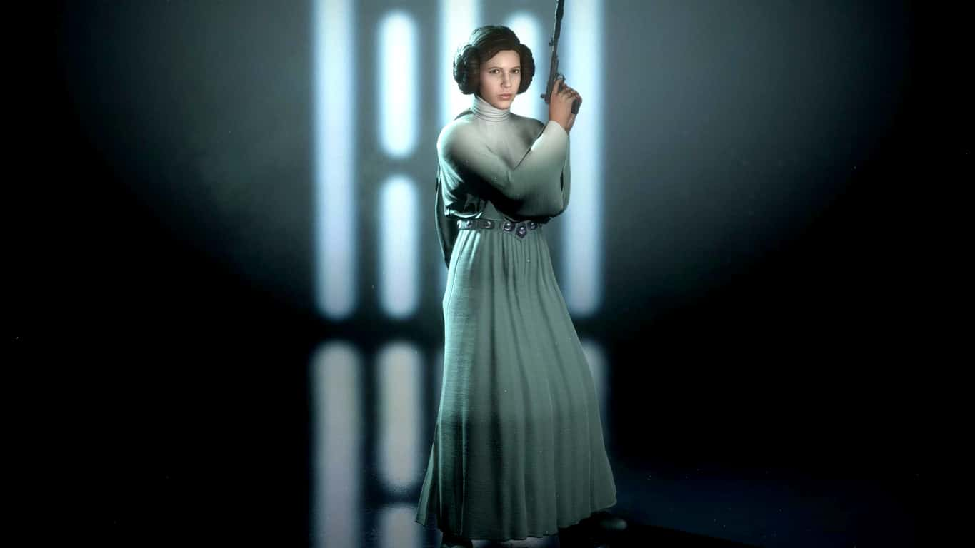 Princess Leia in Star Wars Battlefront II on Xbox One