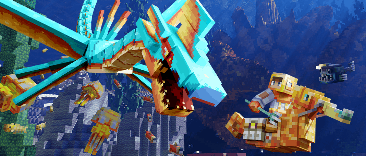 You can grab the Minecraft Deep Sea Mash-up Pack for free