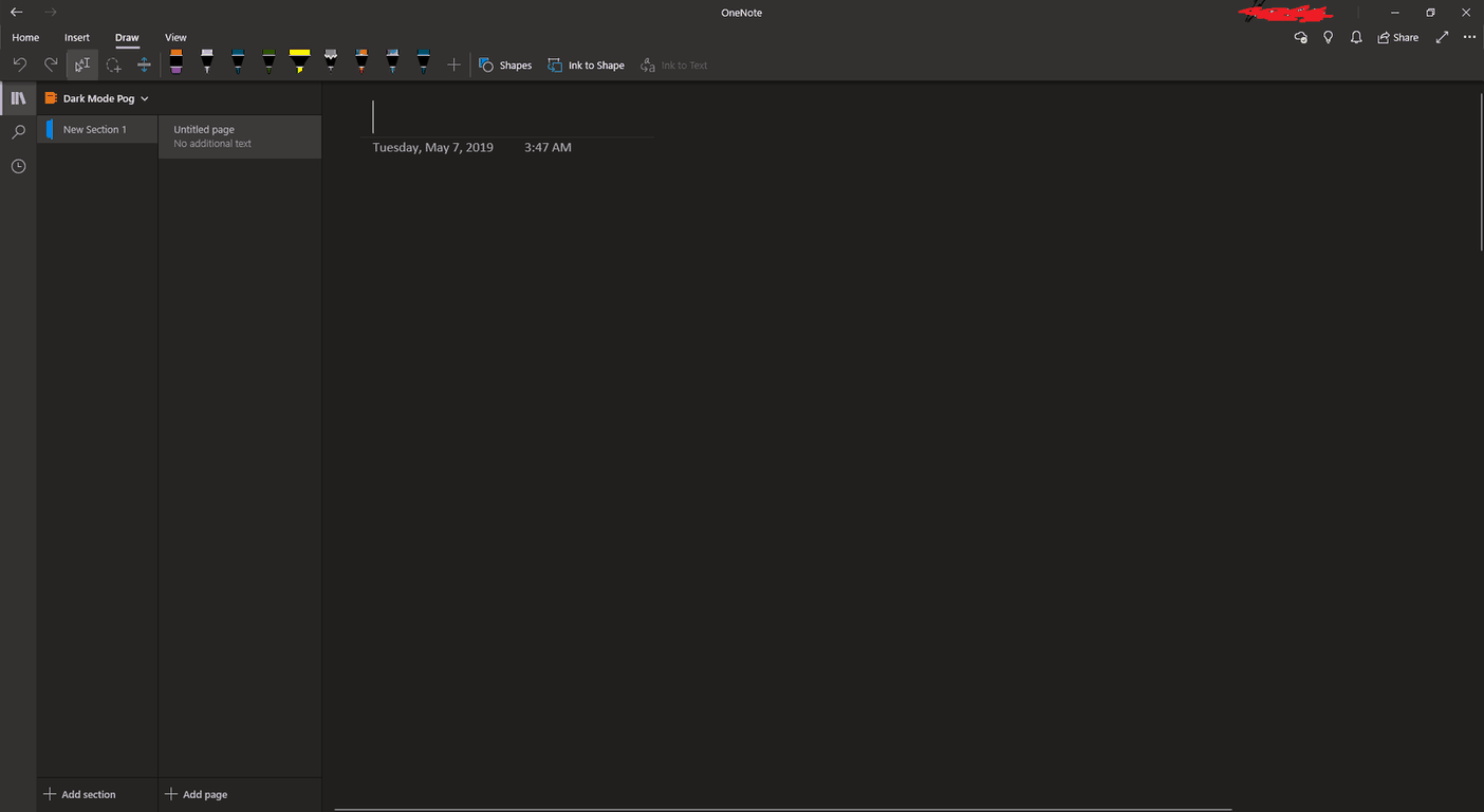 Dark mode in OneNote Windows 10 app starts rolling out to