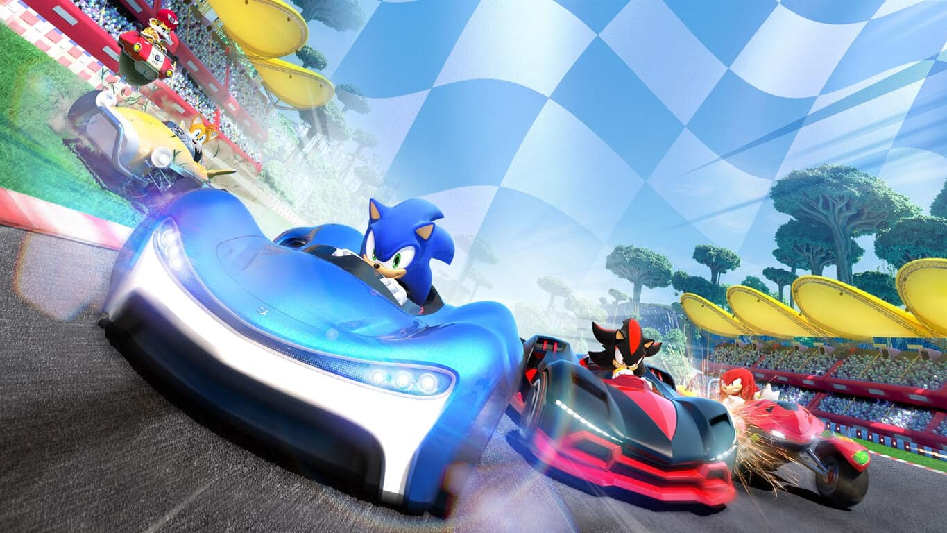 Team Sonic Racing video game on Xbox One