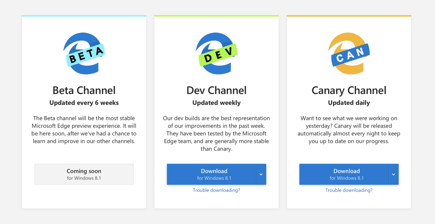 Microsoft Edge Insider Dev channel officially launches on