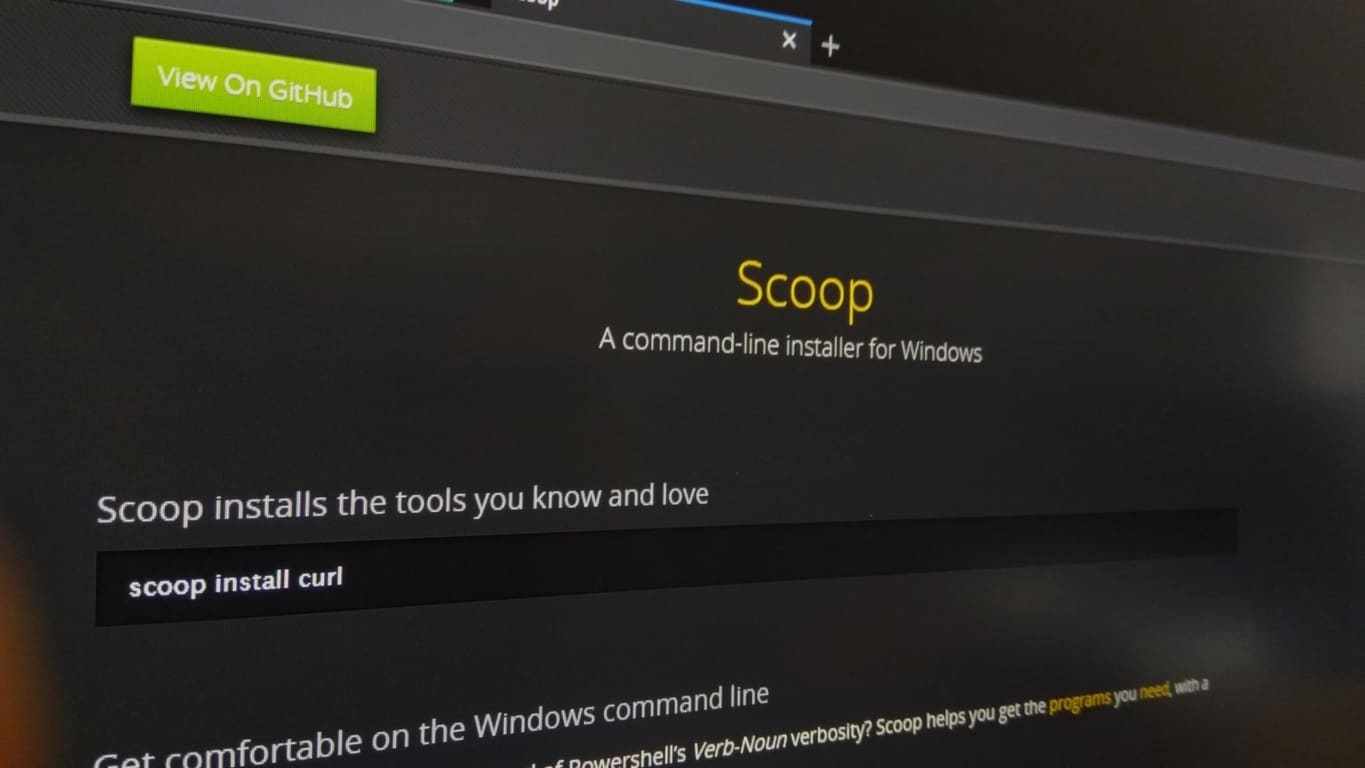 How to install the Scoop package manager in Windows 10
