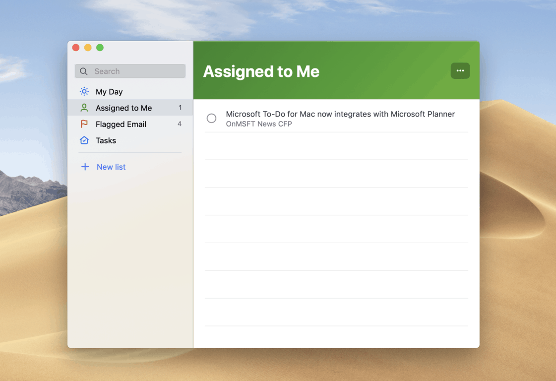 Microsoft To-Do for Mac now integrates with Microsoft Planner OnMSFT com