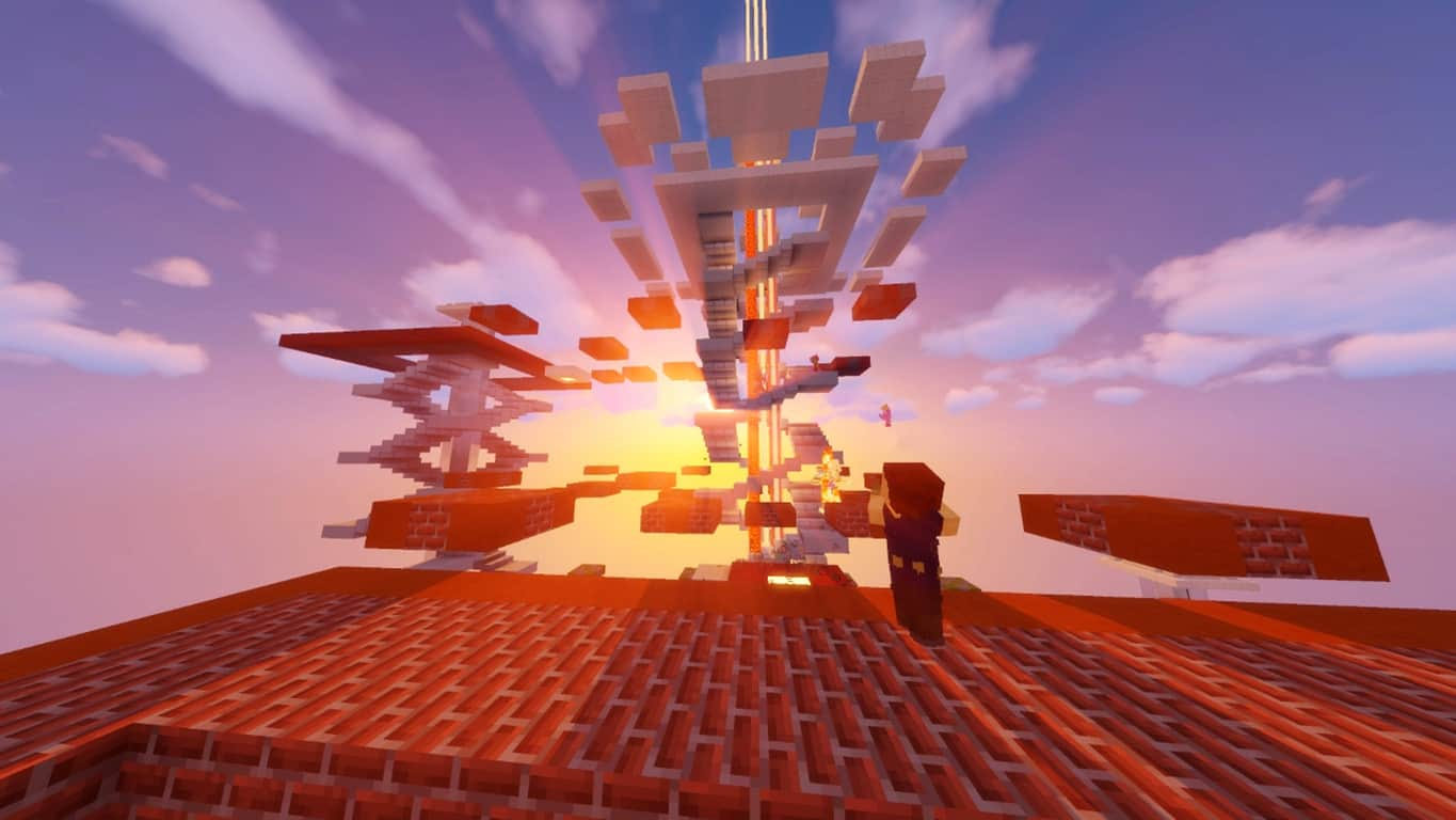 Minecraft video game on Xbox One, Windows 10, and Nintendo Switch.