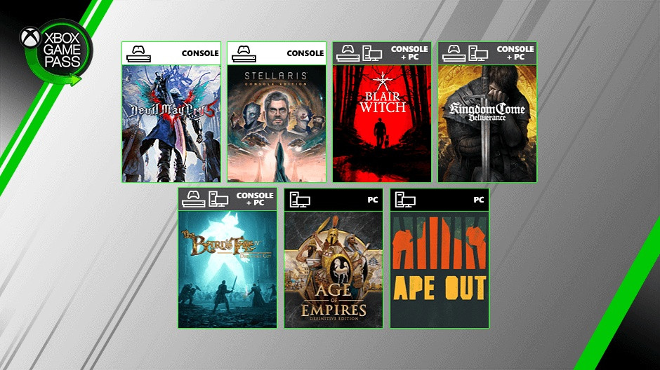 New Xbox Game Pass additions include Devil May Cry V and Age of Empires Definitive Edition