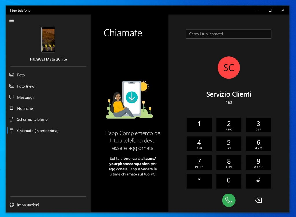 Windows 10 Your Phone app gets phone calls capability for some users