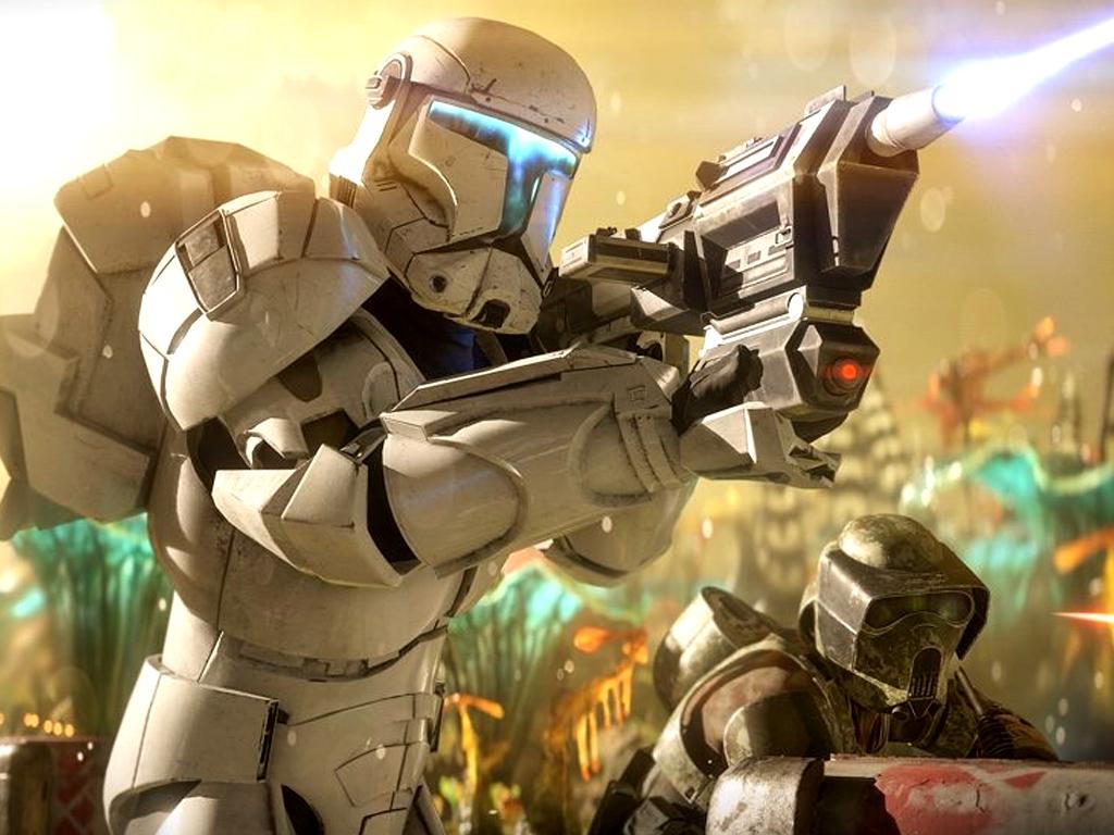 Clone Commando in Star Wars Battlefron II video game on Xbox One