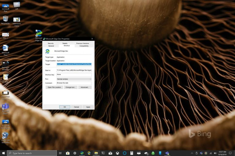 How to enable the new Extensions Menu in Edge Insider Dev