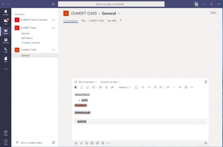 Microsoft Teams vs Slack: User Interface