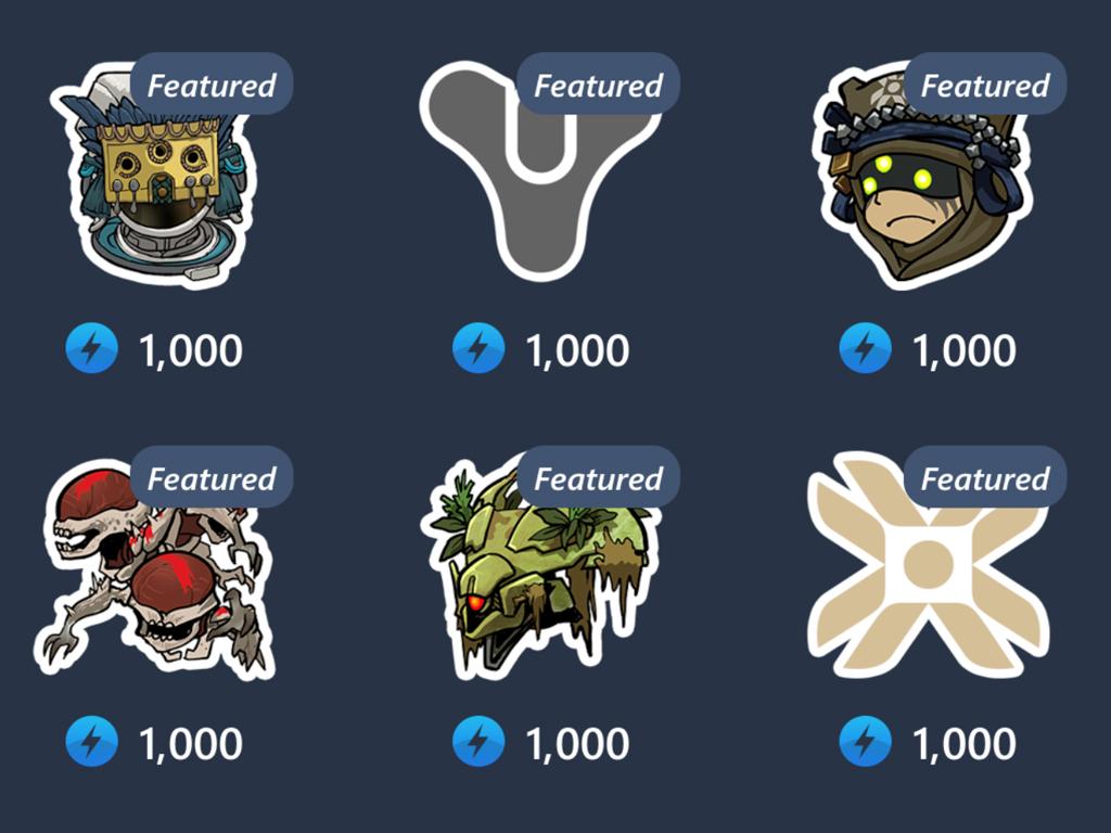 Mixer Destiny 2: Shadowkeep chat stickers