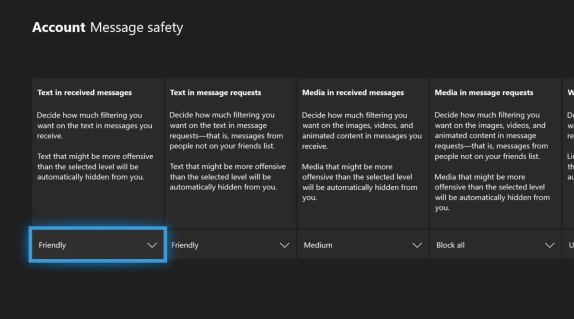 Xbox Text Filters