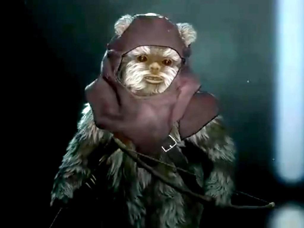 Ewok Warrior in Star Wars Battlefront II video game on Xbox One