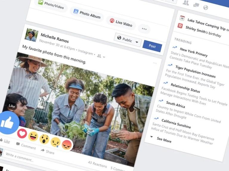 Windows 10 Facebook app