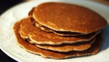 whole wheat walnut pancakes