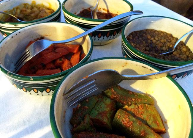 Moroccan mezze salads