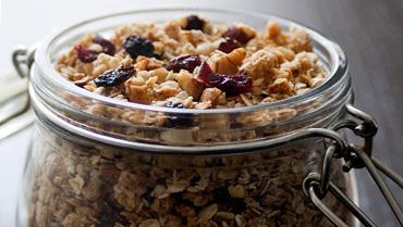 Crunchy, nutty granola