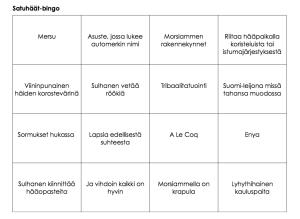 Satuhäät-bingo
