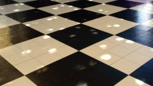 Black and white checkered dance floor for rental