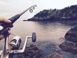 fishing using fishing rod